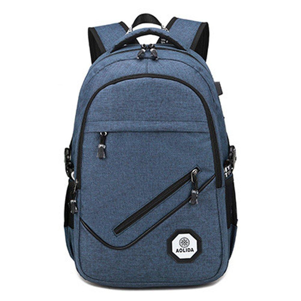 Misfits Laptop Backpack 17-inch Men and Women Travel Business Backpack with USB Charging Port