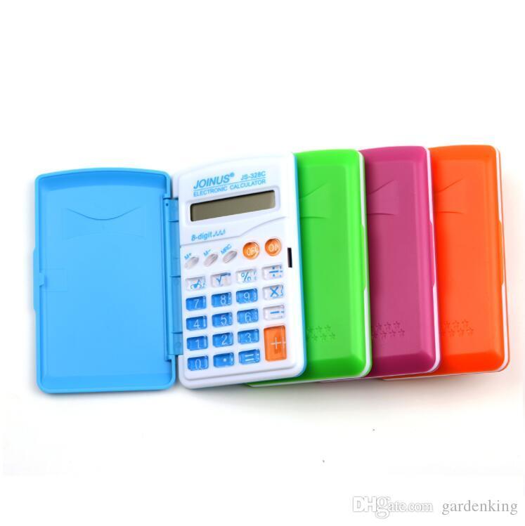 Candy Color Office Mini Calcolatrice scientifica Scuola Studente Funzione Calcolatrice Calcolatrice multifunzione Orologio Cientifica Prezzo all'ingrosso