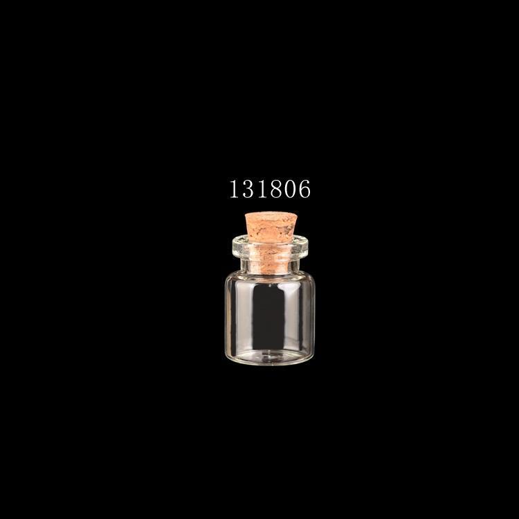 Ясно 13x18mm мини стеклянная бутылка с пробкой 0.5 мл миниатюрная Банка крошечный флакон террариум Шарм кулон решений -100 шт