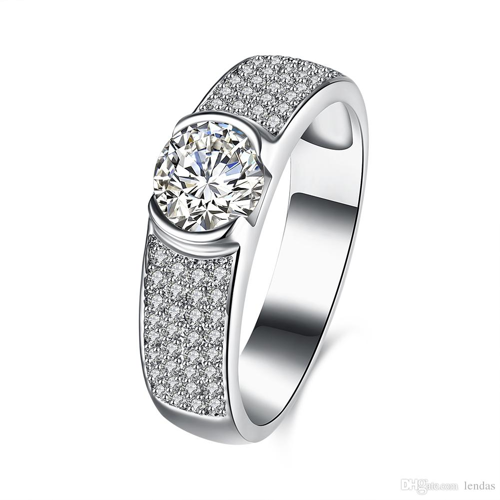 925 Sterling Silver Ring Watch Shape With Crystal Zircon and ...