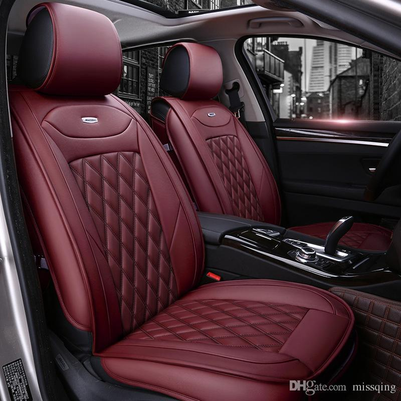 Car Seat Cover Design >> Luxury Pu Leather Car Seat Covers Full Set For General 5 Seat Car Use Mg Toyota Mazda Buick Audi Ford Cadillac Bmw Volkswagen Custom Infant Car Seat