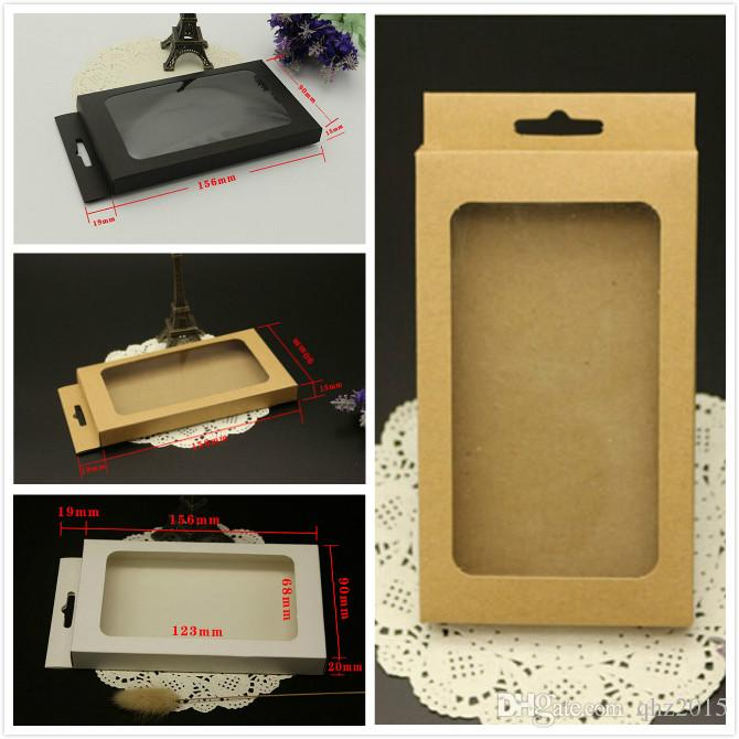 Universal Mobile Phone Case Package Paper Kraft Brown Retail Packaging Box for iphone 7 6 5s For Samsung S7 156*90*15MM