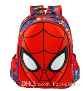 Outnice Brand Superman Spiderman Orthopedic Backpack Anime Primary School Bags For Boys High Quality Children Bookbag Hot style bag