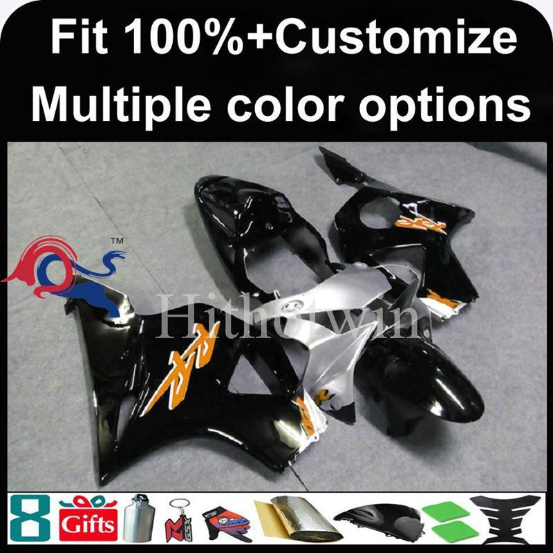 23colors+8Gifts Injection mold black motorcycle cowl for HONDA CBR954RR 2002-2003 CBR954 RR 02 03 ABS Plastic Fairing