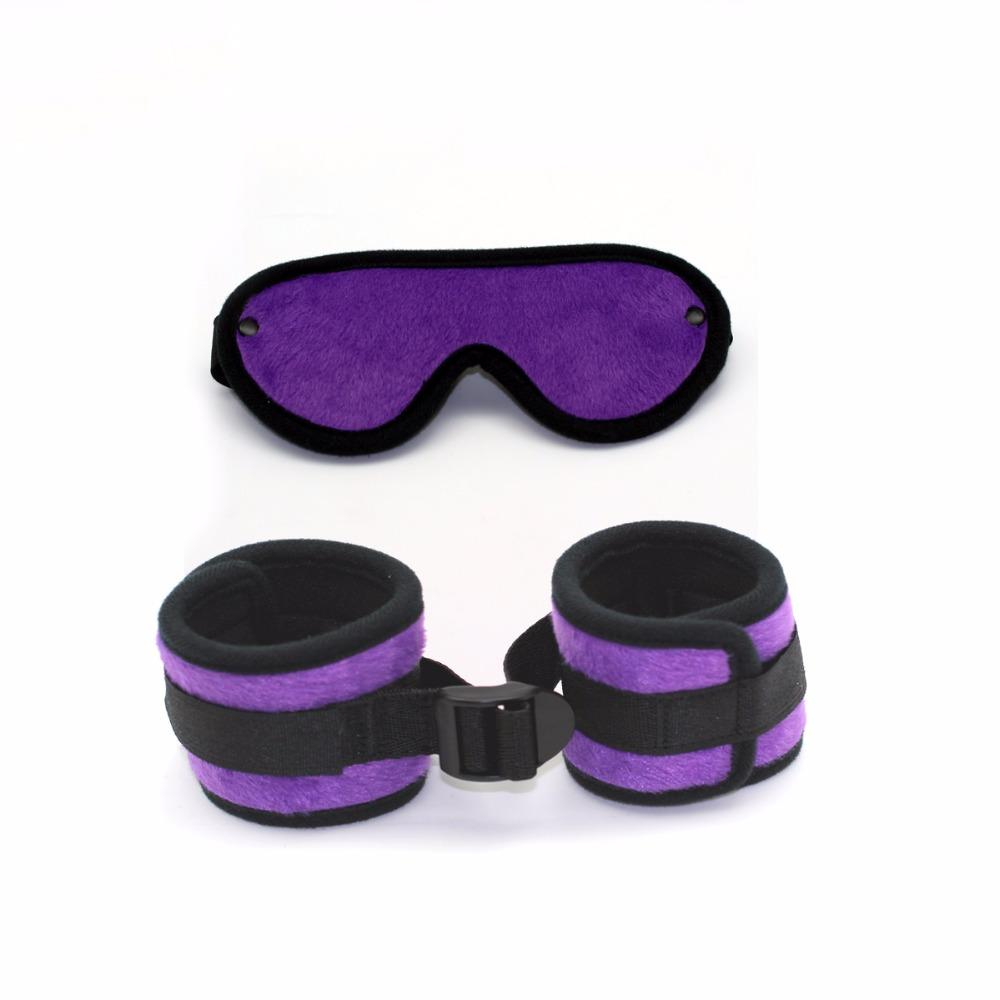 Sex Sex Couples Kit Handcuffs And Blindfold,adult Bondage Plush For Black ,sex Restraints Toys For Woman,adult Pretty Products Mijjl
