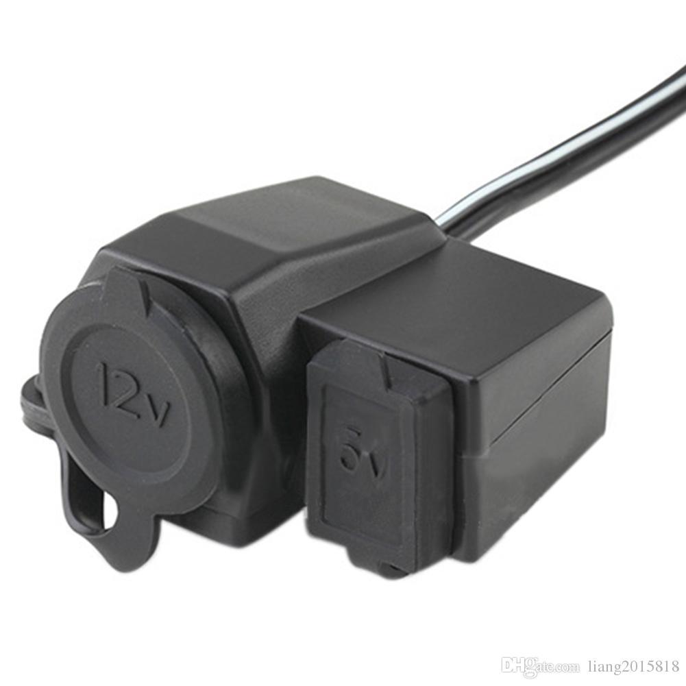 Enchufe para encendedor de cigarrillos ABS Encendedor para motocicleta Socket con cubierta impermeable 12V 24V Encendedor de cigarrillos para autom/óvil