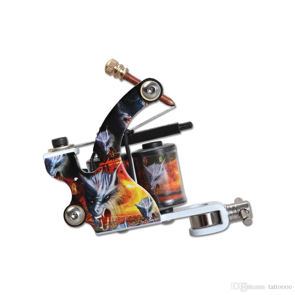 New Tattoo Machine Tattoo Gun 10 Wraps Bobine Coils Telaio in lega Lineer Shader Gun Tattoo Fornitura WQ5015
