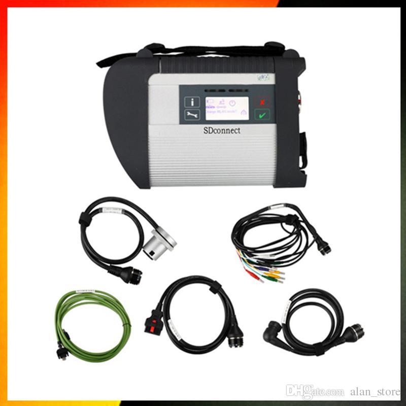 Qualidade de garantia MB ESTRELA C4 SD CONECTA Ferramenta de Diagnóstico com WIFI e 21 idiomas SD C4 X.entry ferramenta de diagnóstico