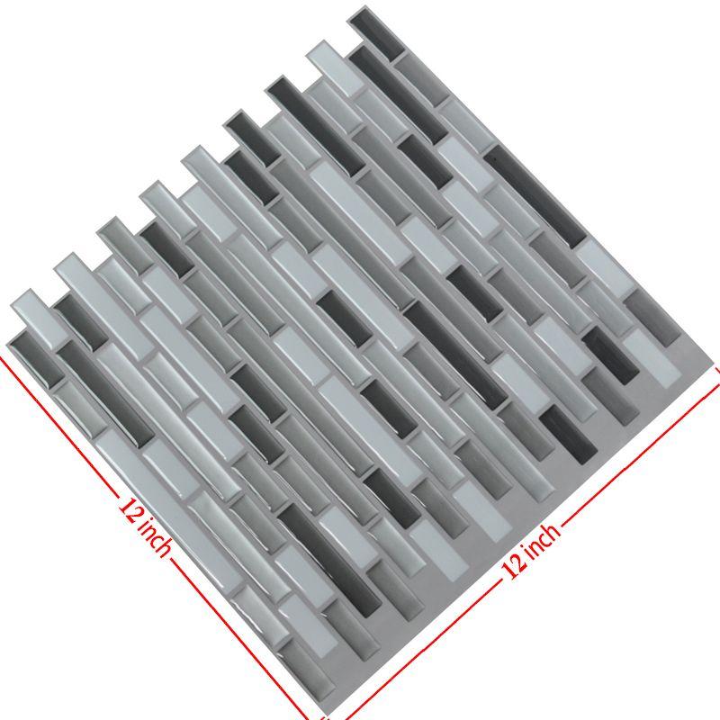 Peel and Stick Tiles Kitchen Backsplash Tiles 12''x12'' 3D Wall Stickers 6 Tiles/Pack Kitchen Wall Stickers