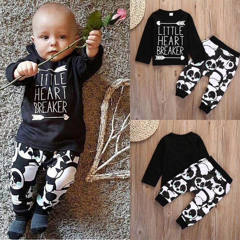 Toddler Boys Clothing NewBorn Baby Clothes Set Boutique Boy Tracksuit Sport Playsuit Cartoon Long sleeved T-shirt Pants Kid Outfit Suit