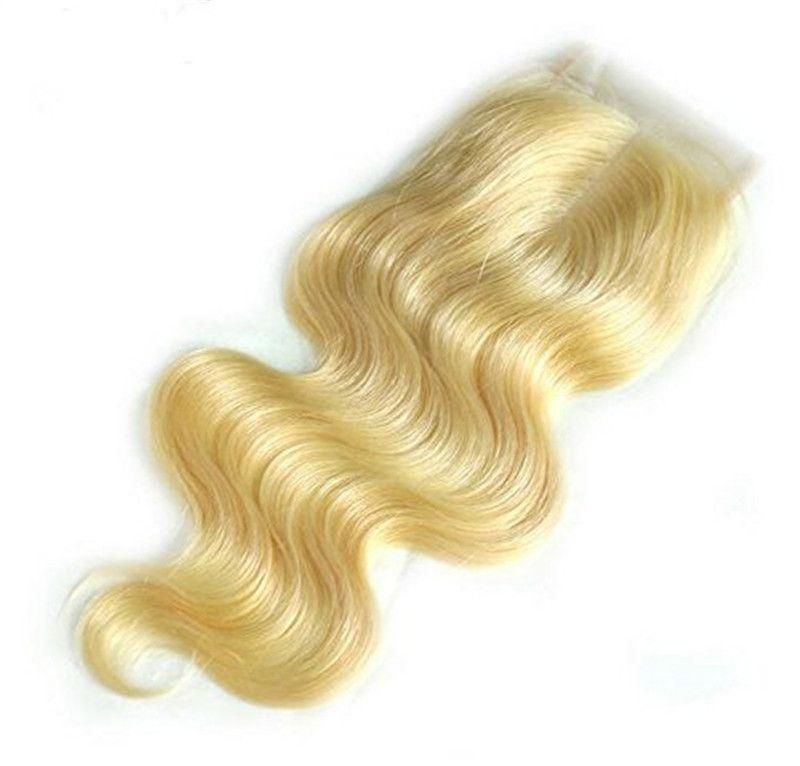 Capelli malesi peruviani 613 Body Wave Brasiliano Chiusura bionda 4x4 Chiusura dei capelli brasiliani Chiusura bionda Bilanda Bilanda Chiusura bionda Estensioni bionde