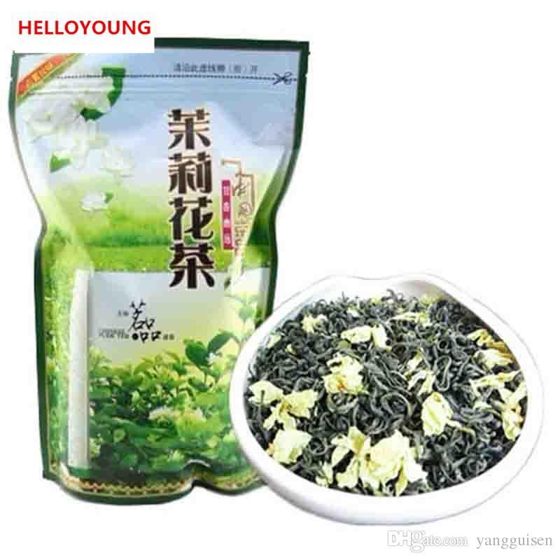 250g Chinois Thé Vert Organique Au Début Du Printemps Fleur De Jasmin Raw Tea Soins de Santé Nouveau Thé De Printemps Vert Emballage de bande d'étanchéité