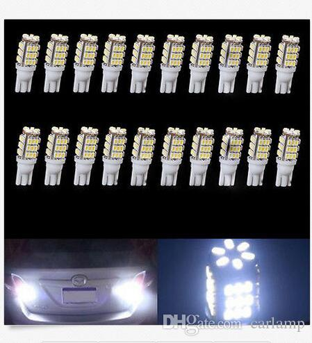 100X T10 42SMD 68SMD Reversing Lamps License Plate Lights LED Bulb W5W 1210 Light Source Clearance Lights