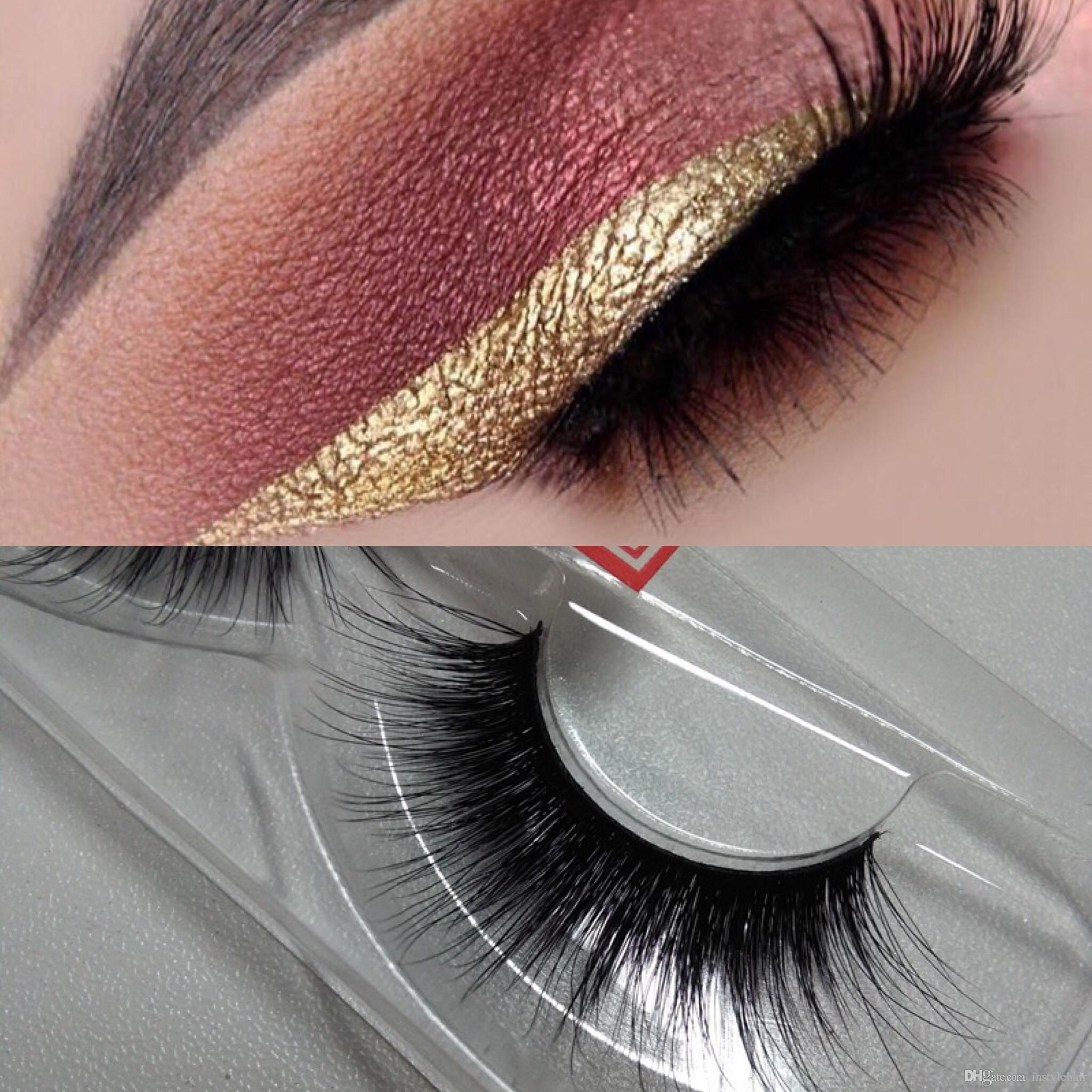 Free shipping in stock 100% Handmade Siberian Strip lashes 3D Eyelashes Hot Sale 15 pairs 3D False Lashes