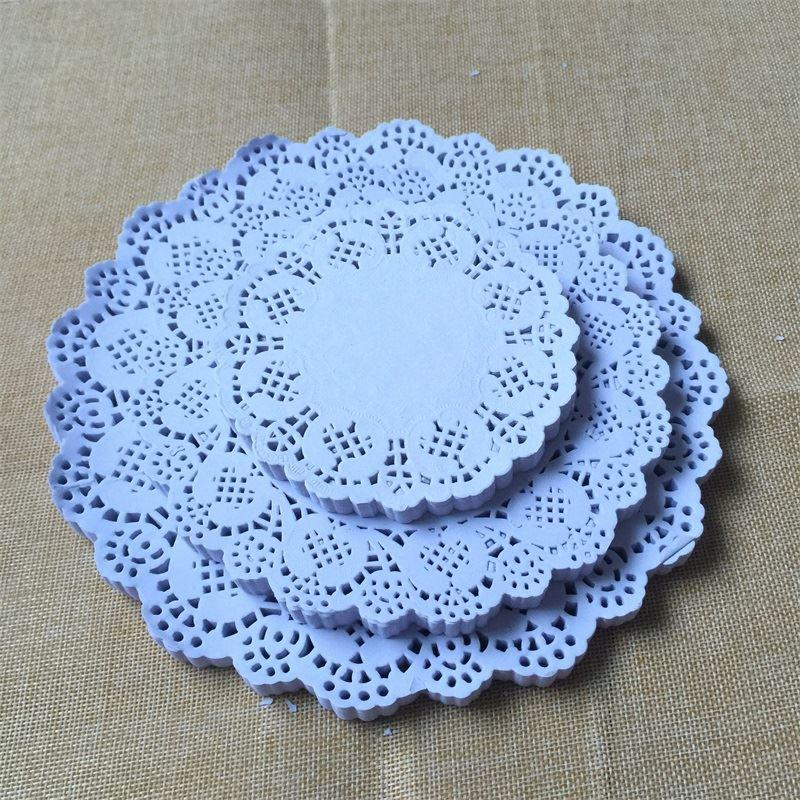 100pcs 11.5cm, 16.5cm Eco-Friendly Grease-Proof White Round Lace Paper Doilies Wedding Table Decoration cake holder