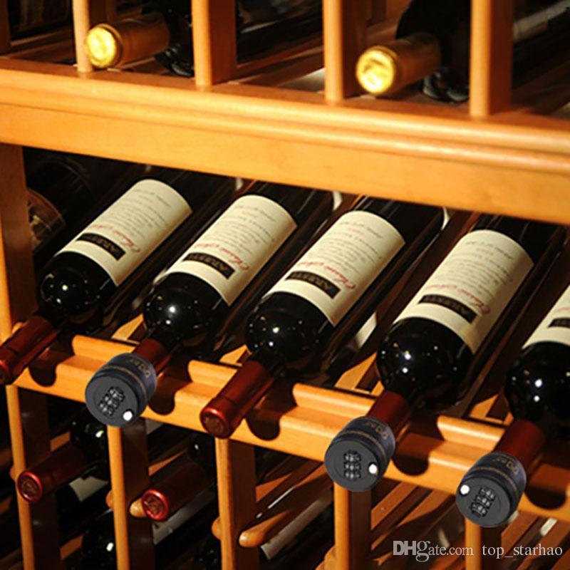 Zinc Alloy Wine Bottle Stopper Password Lock Combination Party Chip