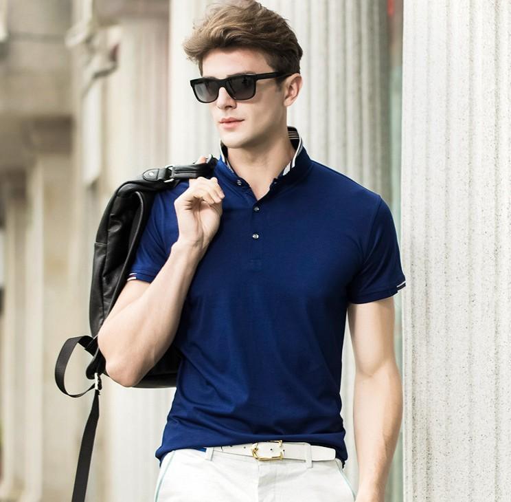 2021 Classic Mens Short Sleeved Polo Shirt Slim Fashion Summer ...