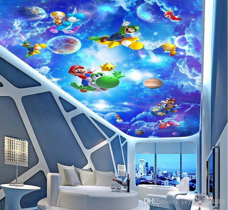 Großhandel 3d Decke Tapeten Für Wohnzimmer Benutzerdefinierte 3d Decke Sci  Fi Kinderzimmer Vlies Tapete Für Himmel Decke Von Yeyueman8888, $23.11 Auf  ...