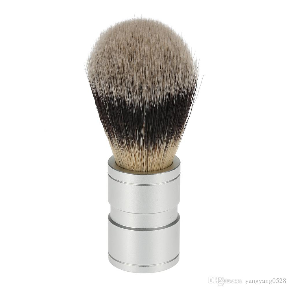 10pcs Aluminium Oxide Handle Men's Shaving Brush Luxurious Salon Barber Beard and Face Cleaning Shaving Razor Brush Hair Removal