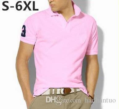 Nouvelle marque 2016 Big Horse broderie Polo Shirt Hommes À Manches Courtes Chemises Décontractées Homme Solide Polo Plus 5XL 6XL Camisa Polo