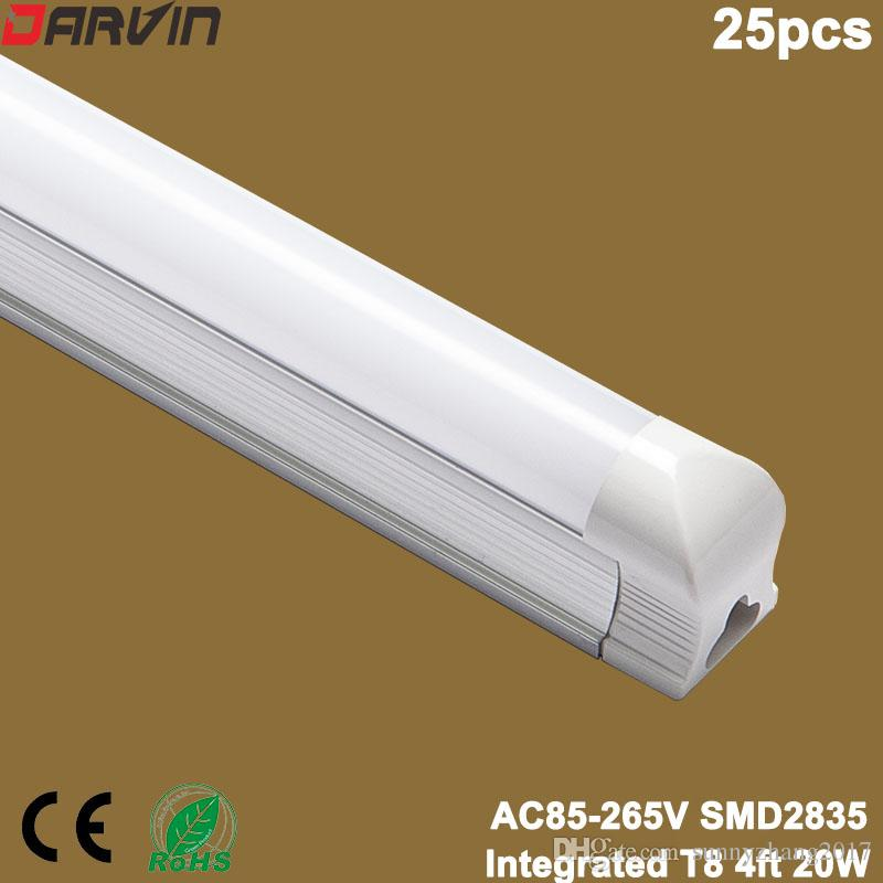 Integrierte LED-Röhre T8 Licht 4FT 1200mm 20W 110V 220V LED-Lampen-Zwiebeln Energieeinsparung, freies Verschiffen