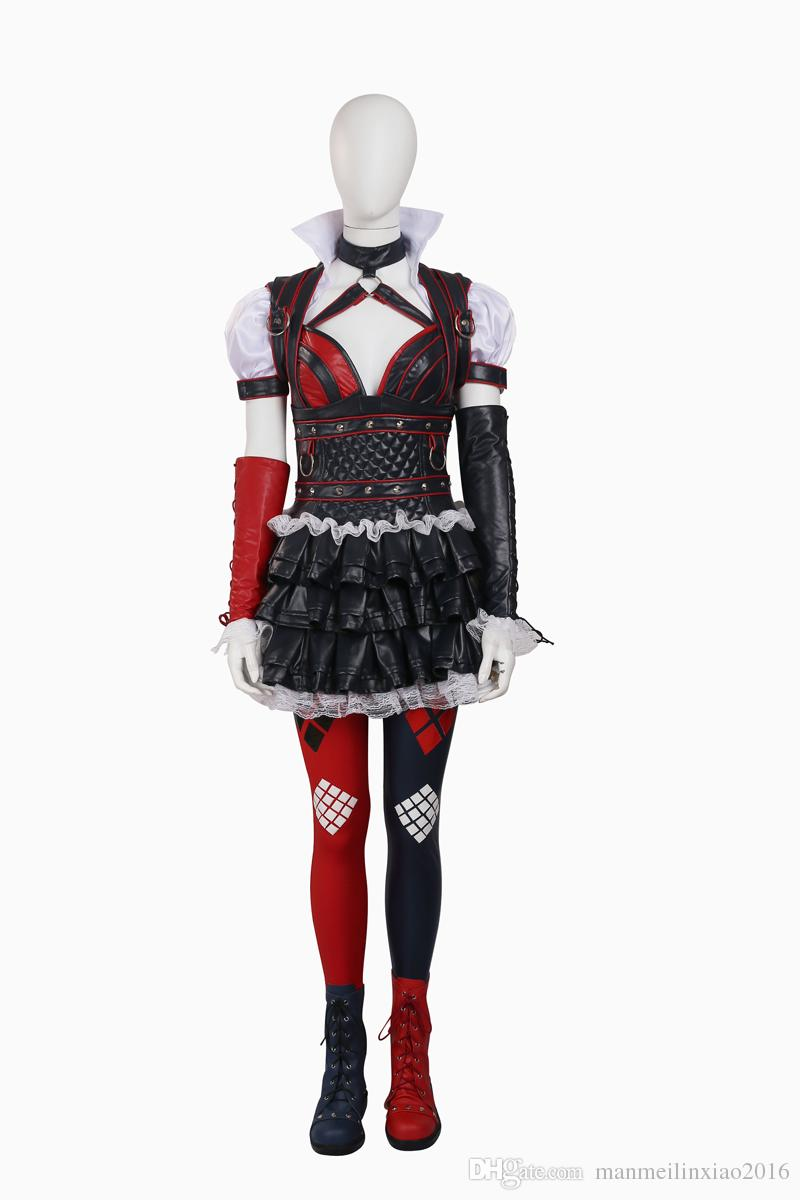 Suicide Squad Harley Quinn Cosplay Costumes Tights Outfits Whole Set Halloween