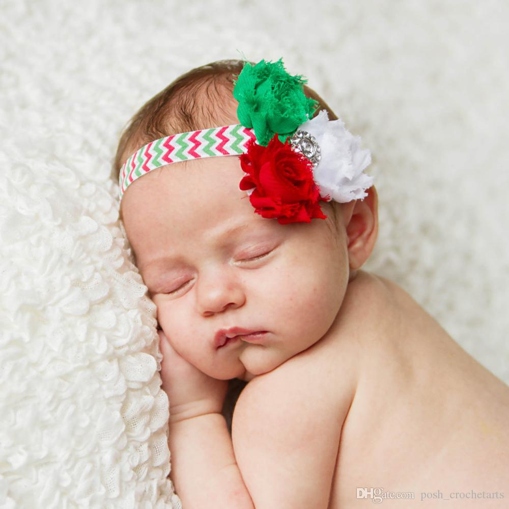 Christmas Headbands For Babies.Chiffon Baby Headbands Xmas Hair Headbands Flower Headband For Girls Trendy Christmas Baby Girl Hairbands Babies Headbands For Sale Canada 2019 From