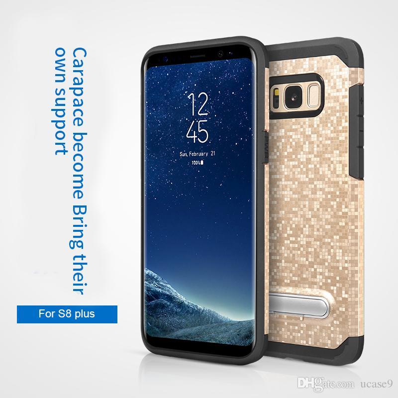 Para iphone 7 7 plus 6 6 s plus 5S samsung s8 mais S8 S7 Borda S7 Defender Armadura Kickstand Magro Híbrido PC + TPU Caso À Prova de Choque