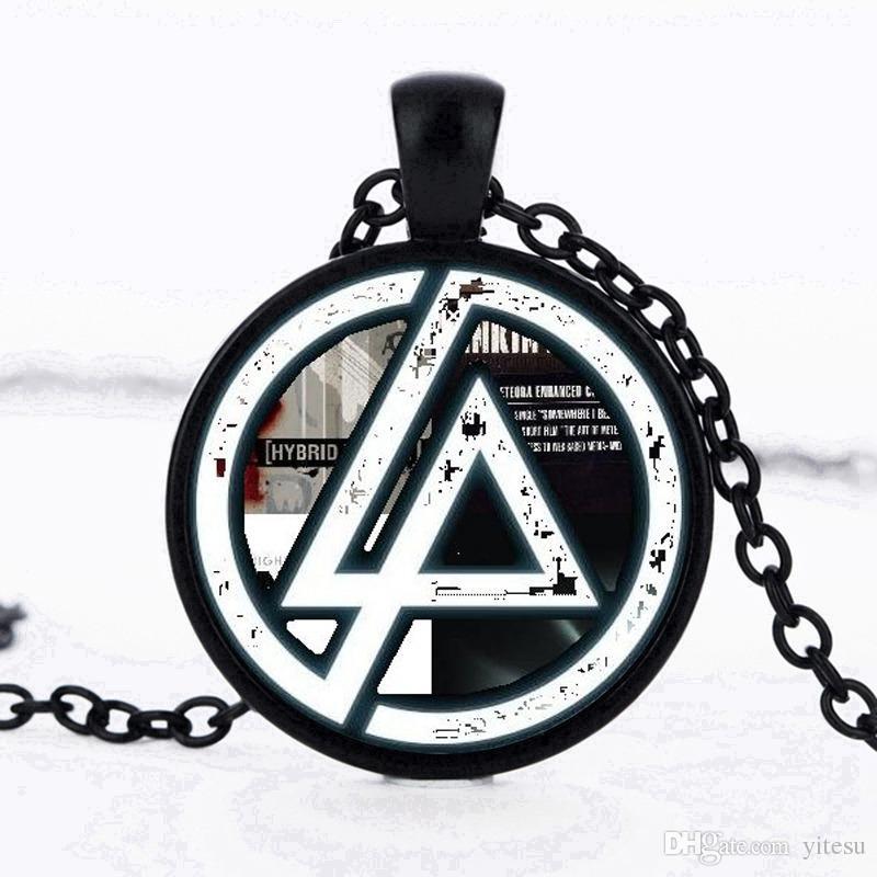 Venda quente Fãs Linkin Park Logotipo Pingente de vidro colares Lincoln Park Colar de Jóias Cúpula Pingente Homens E Crianças Presentes Do Partido Gargantilha