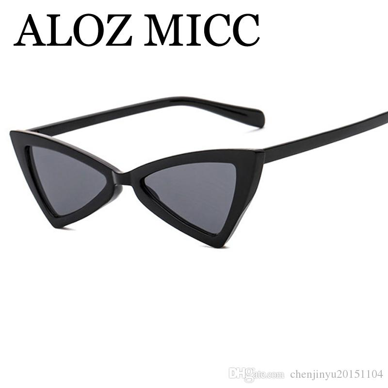 Rahmen Micc A395 Kleines Dreieck Mode Eye Designer Frauen Gläser Lady Sun Cat Marke Sonnenbrille Bowknot ALOZ Eyewear Luxus Foof