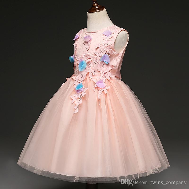 New Toddler Short Summer Dress Baby Girls Princess Kids Flower Butterfly Girl