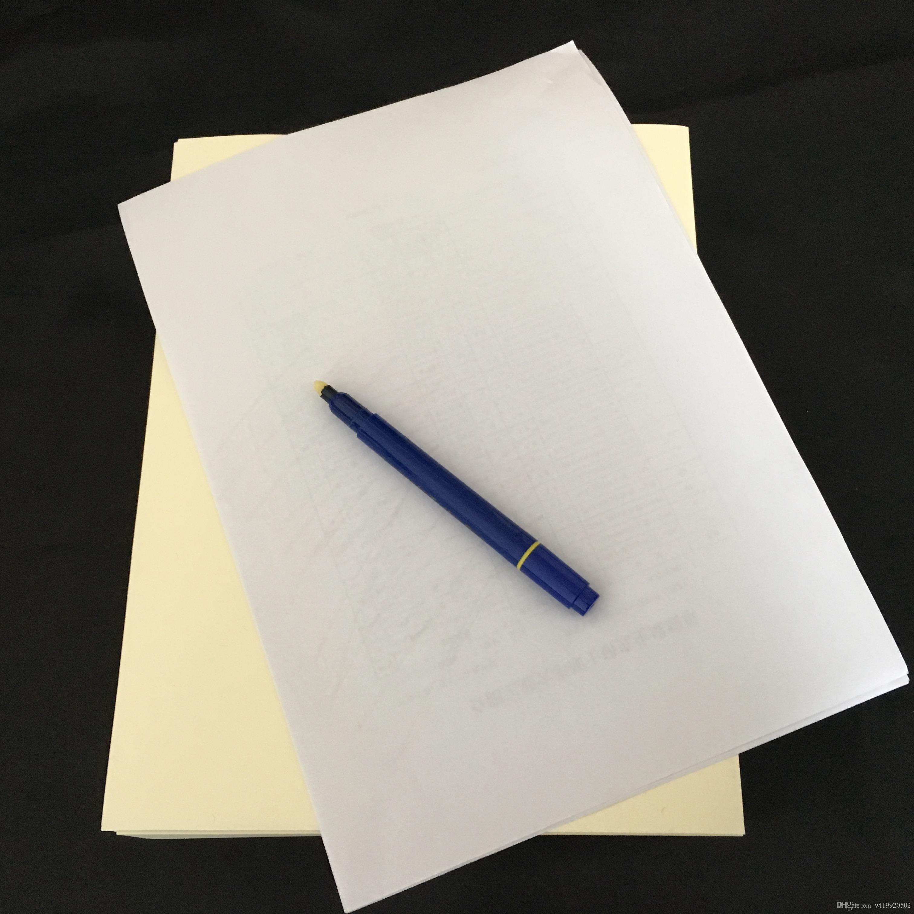 Pases comerciales falsos prueba de pluma papel printinng lino de algodón sensación sin almidón sin ácido tipos impermeables