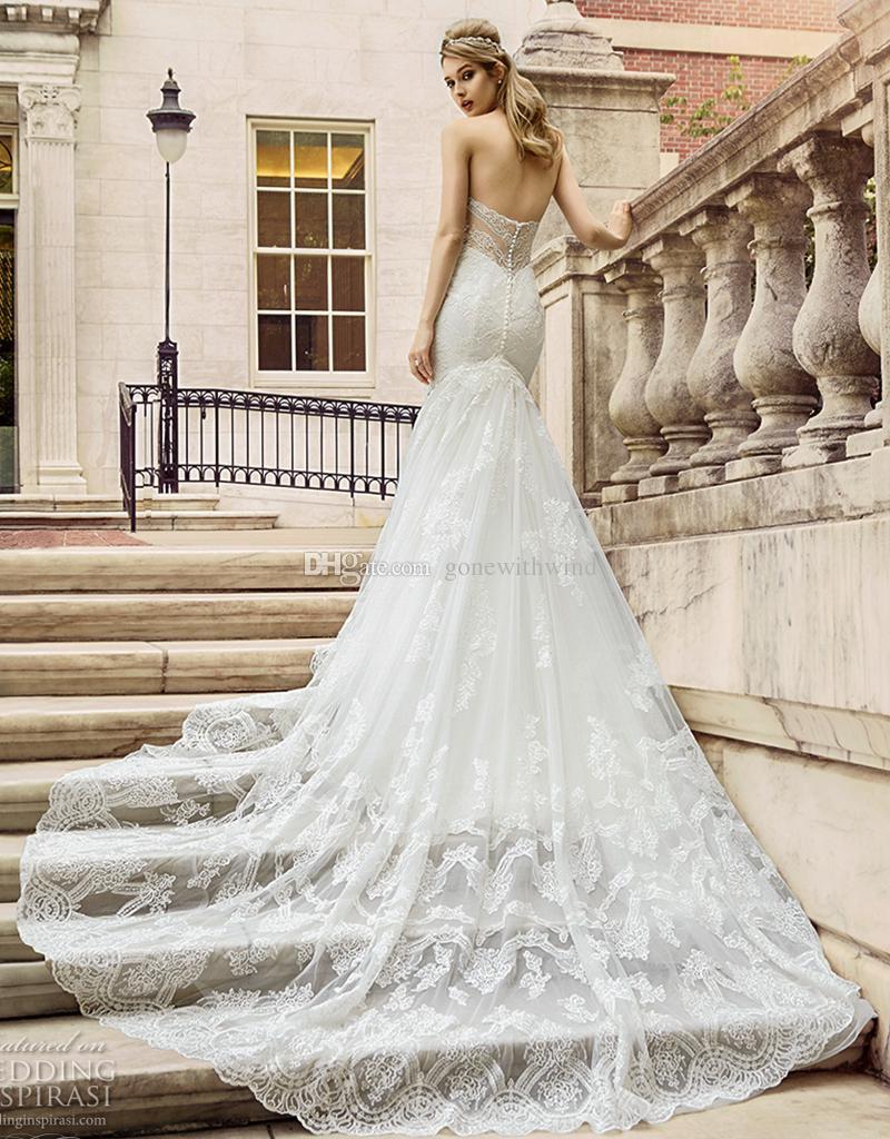 Großhandel Elegante Romantische Fit Und Flare Brautkleider 2017 Val ...