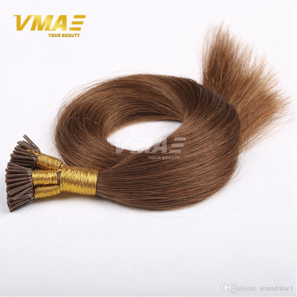 1 g / Strang 100g brasilianische I-Spitze menschliche Pre-gebundene Haar-Verlängerungen Jungfrau-Menschenhaar brasilianische gerade Keratin-Haar-Verlängerungen
