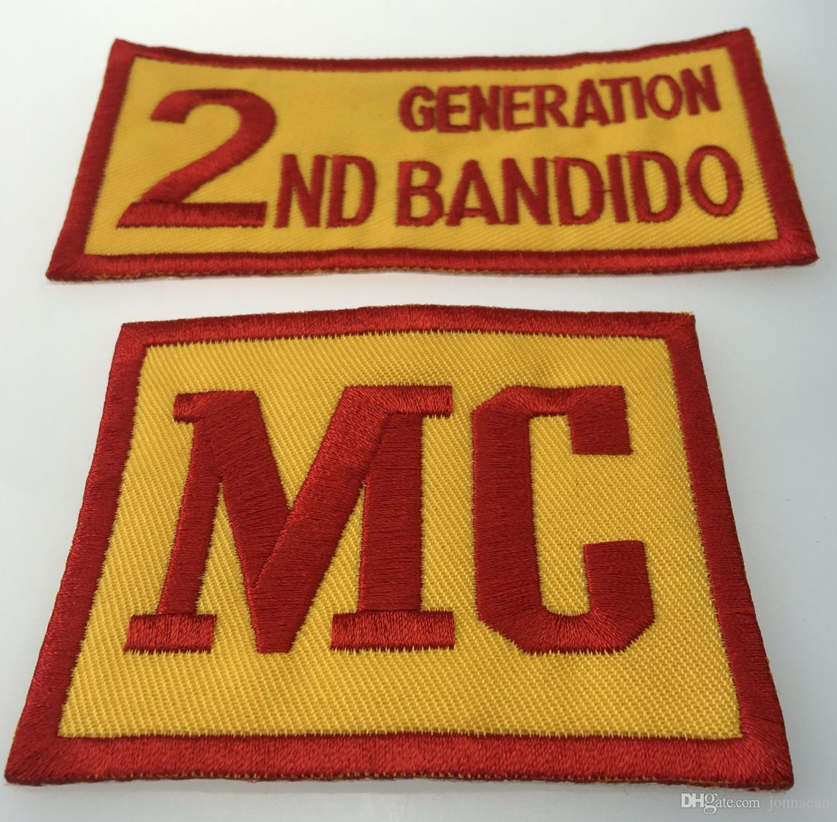 10pcs//Set BANDIDOS TEXAS MC Patch Embroidered Iron-On Full Back Size Jacket