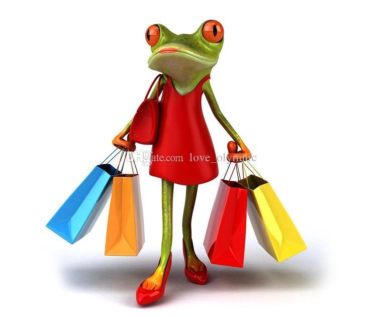 Encadré, Grand shopping grenouille heureux, pur peint à la main décorations abstraite Peinture à l'huile animale d'art toile multi tailles peuvent être personnalisés R54