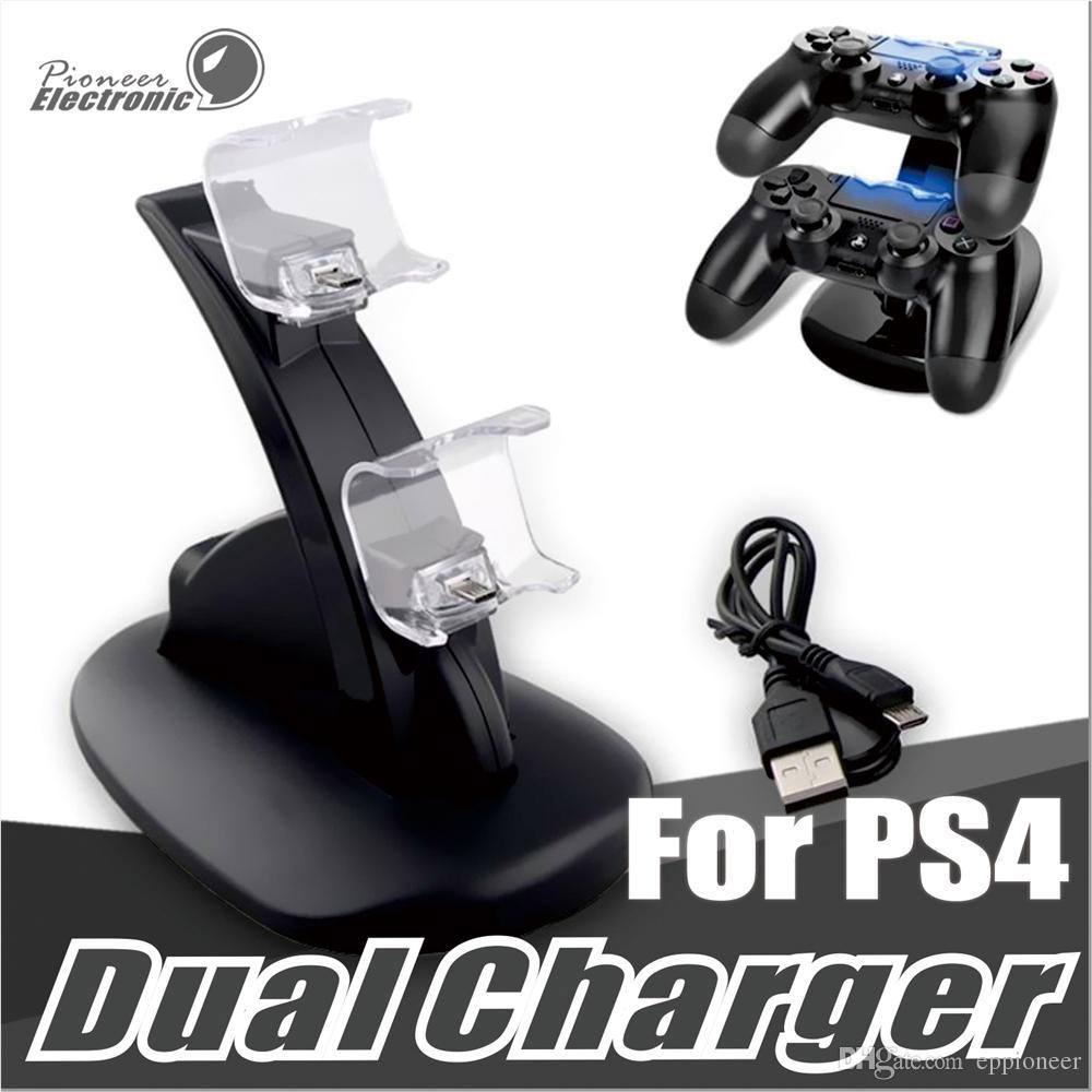 Двойные зарядные устройства для ps4 xbox один беспроводной контроллер 2 usb LED станция зарядки док-станция держатель подставки для PS4 геймпад playstation с коробкой