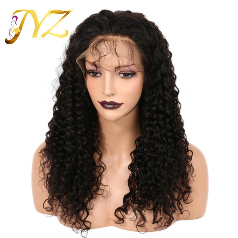 Full Lace Wig 130% Density Curly Human Hair Wig Free Part Human Hair Full Lace Wig Bleached Knot Lace Front Wigs