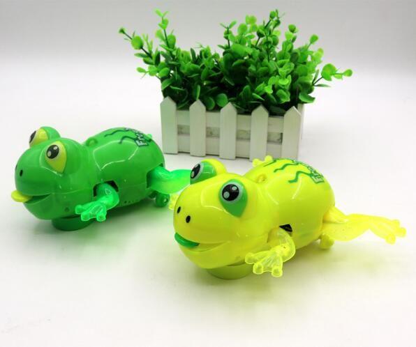 子供の誕生日パーティーギフトかわいい点滅電気カエルのおもちゃの音楽照明自動ステアリングカエルYH707