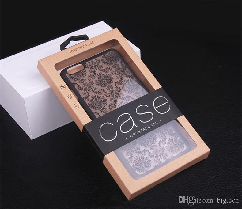 Téléphone en plastique dur cas dentelle damas caoutchouté mat pour Samsung s5 s6 s7 s6edge s7edge pour Samsung Note 4 Note 5 cas avec Kraft Pap