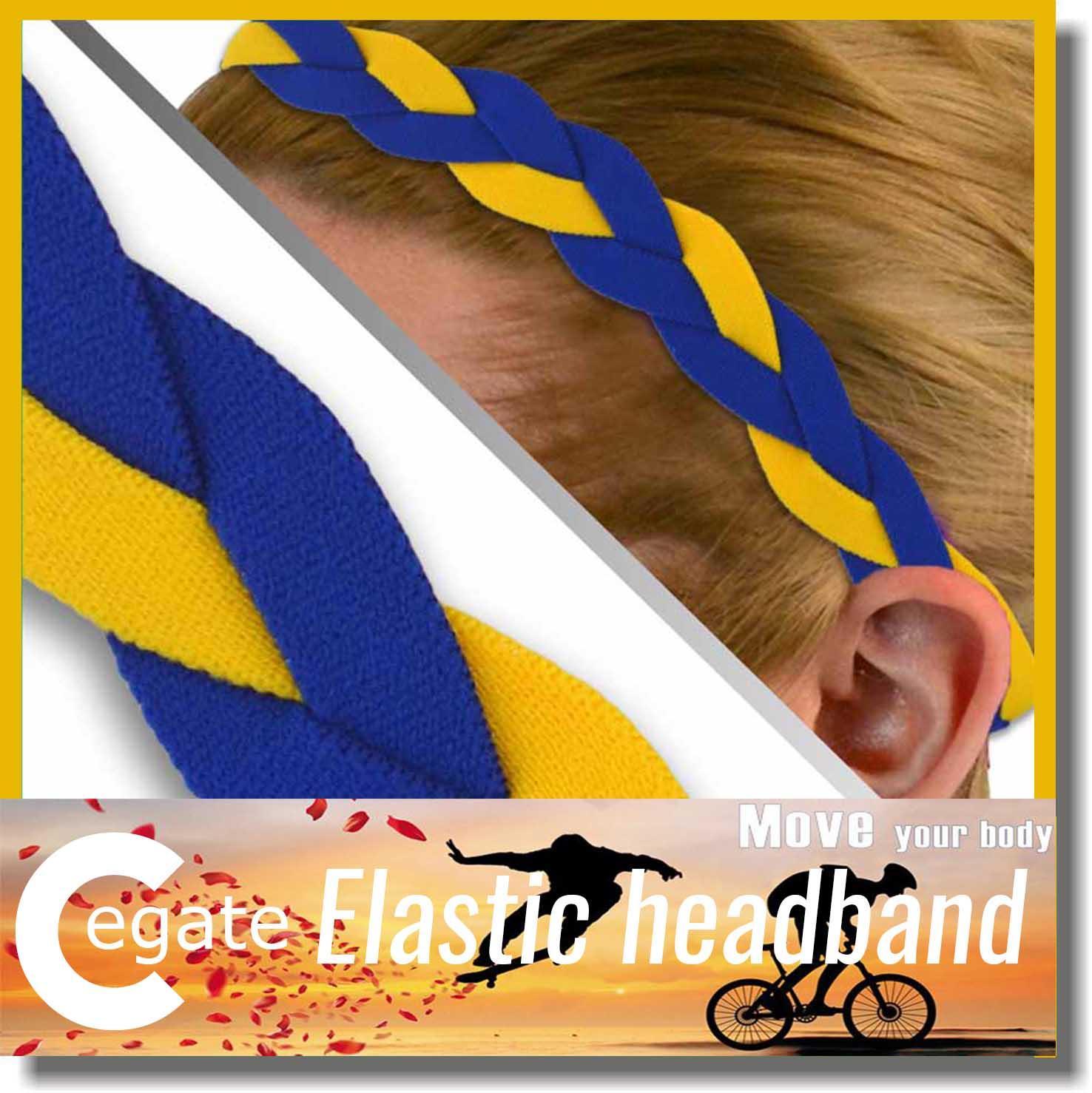 2016 Hot sale sport Headbands Elastic Soft Stretch Adult Youth Sports Workouts baseball Fashion braided mini headband free DHL