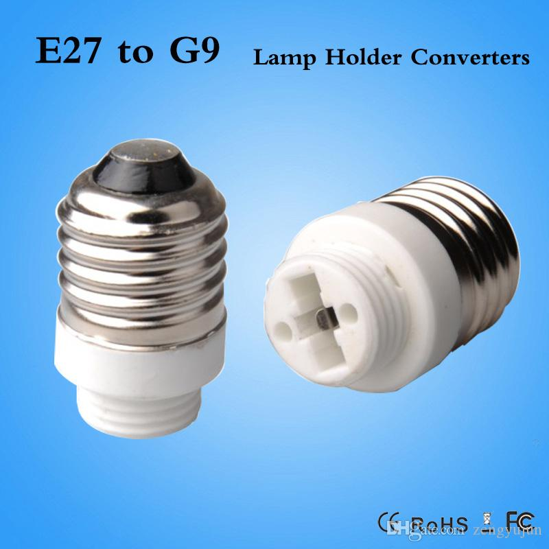 5 x G9 Male to E27 Female Socket Base LED Halogen CFL Light Bulb Lamp Adapter