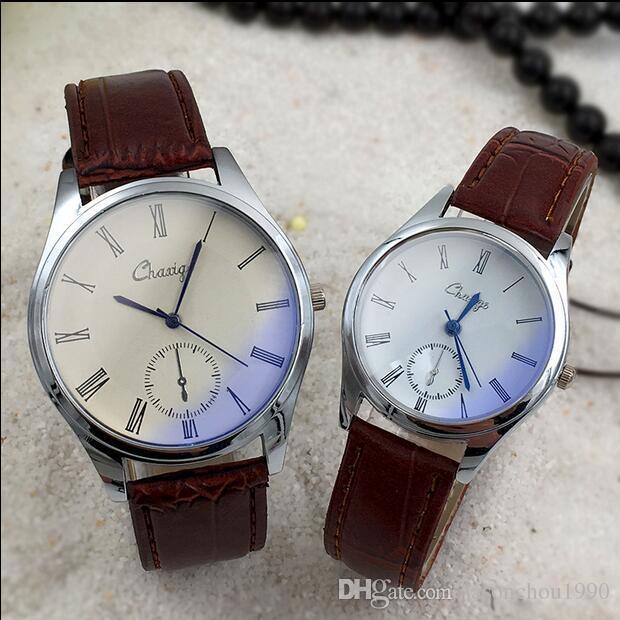 Tempo-Limitada de Vendas de moda estrangeira amantes do comércio assista Lady Moda relógio dos homens Coreano Assista tabela estudante de luxo relógios Frete Grátis