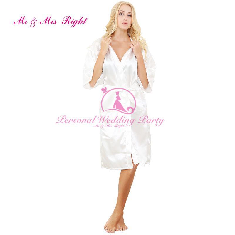 Großhandels- 2016 Silk Robe Bademantel Frauen Short Satin Robe Frauen Peignoir Damen Nachtwäsche Roben Damen Dressing Gown Pijama Mono WKD