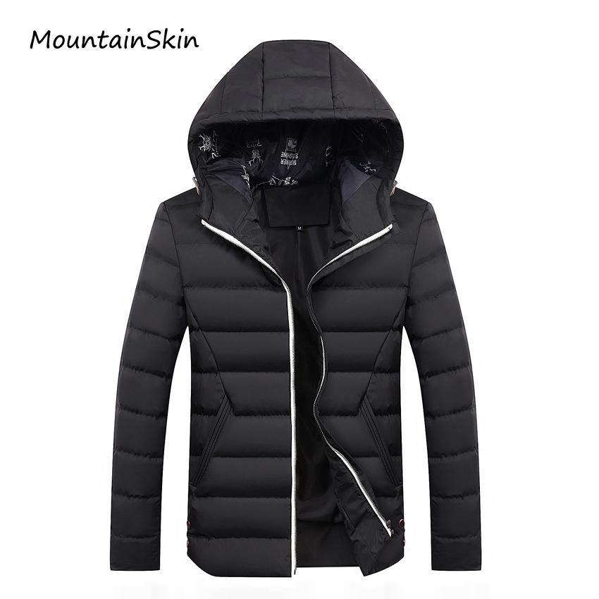 Wholesale- Mountainskin 2017 Yeni erkek Kış Ceket Moda Sıcak Kalın Erkek Parkas Erkekler Rahat Termal Erkek Mont Markalı Giyim LA198