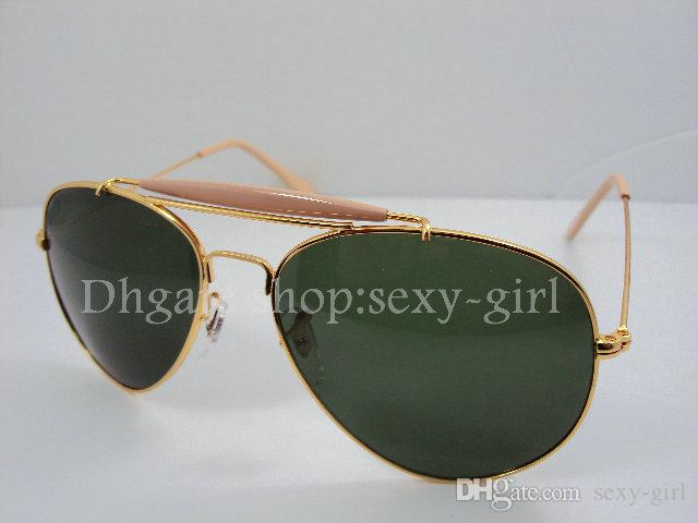 New Mens Womens Designer óculos de Sol moldura Dourada / Lente Verde óculos de Sol óculos Óculos de Sol 8 COR Pode escolher