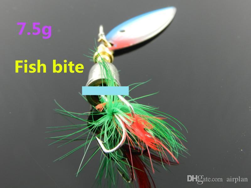5pcs de pesca duro cebo artificial cebo señuelo de plomo peces de metal señuelo de pesca con anzuelos de pesca cuchara de plumas spinnerbait Pesca