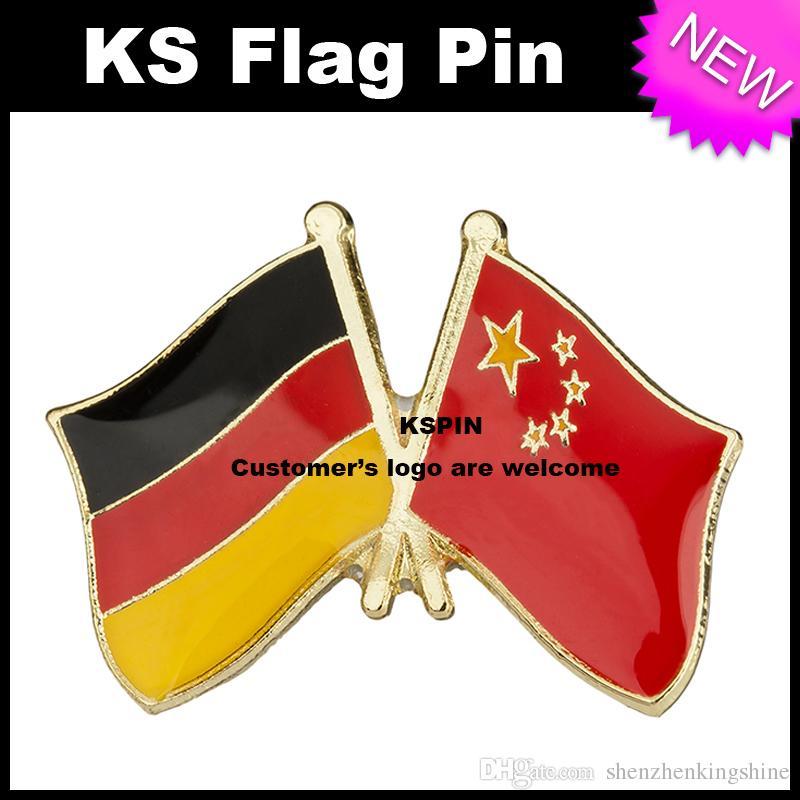 Il perno 10pcs della bandiera del distintivo della bandiera della Cina Germania molto libera il trasporto 0003
