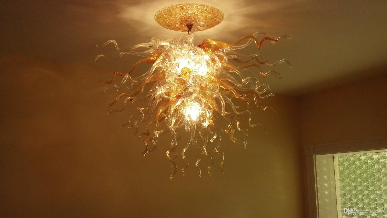 Lámparas de techo de cristal modernas Lámparas de cristal de Murano sopladas hechas a mano Estilo de iluminación Lámparas de techo de techo modernas