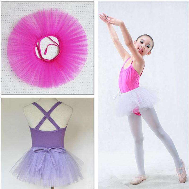 Wholesale Ballet Dress Fancy Skirts Costume Girls Tulle Tutu Dance Skirt 3layers Rustic Chiffon Skirt 5pcs/lot